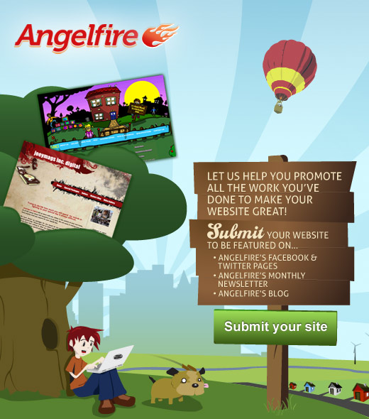 submit your website to Angelfire's Spotlight